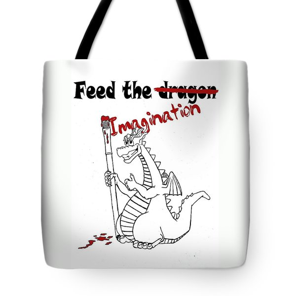 Feed The Imagination Tote Bag