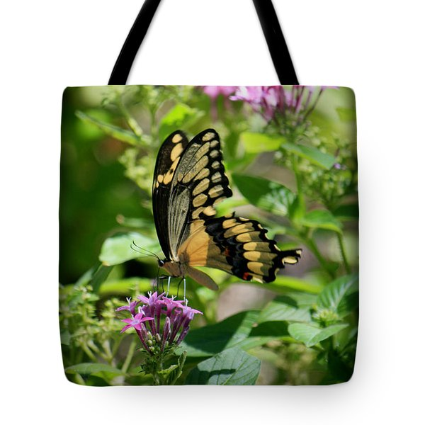 Feeding The Butterflies Tote Bag