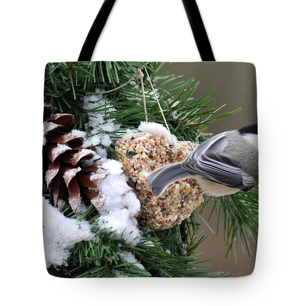 Feeding Feathered Friends Tote Bag
