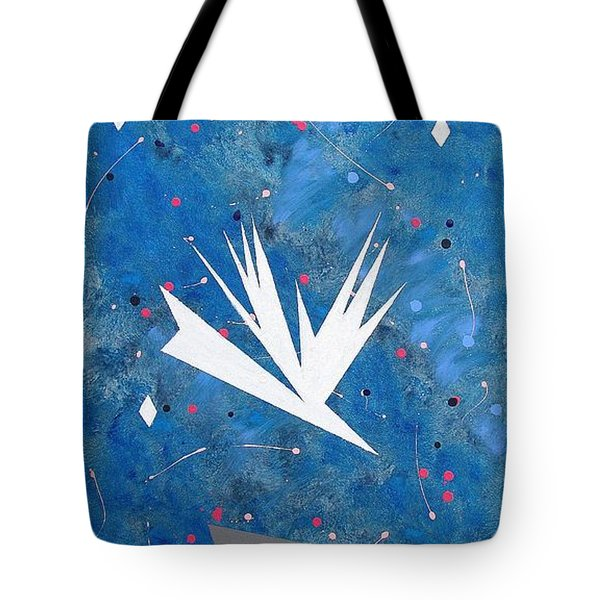 Tote Bag featuring the painting Feeding Frenzy by J R Seymour