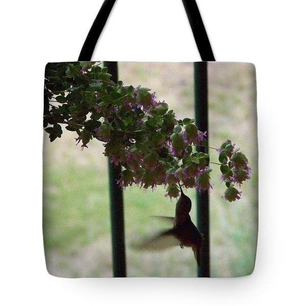 Feeding Hummingbird Tote Bag