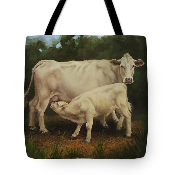 Feeding In The Forest Tote Bag