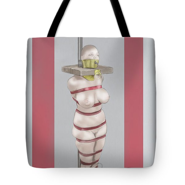 Tote Bag featuring the mixed media Feeding Posture by TortureLord Art