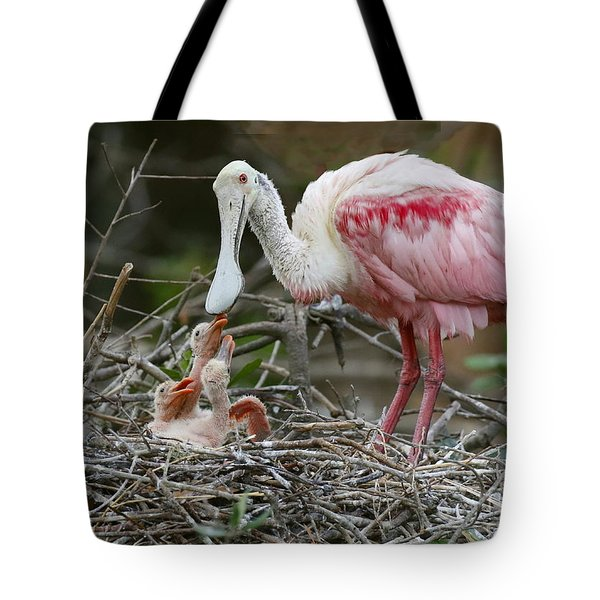 Feeding The Babies Tote Bag