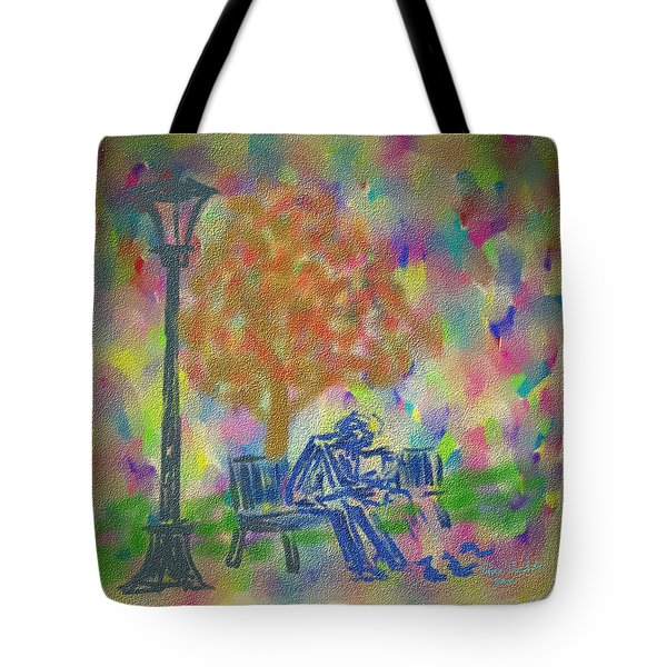 Feeding The Birds Tote Bag by Kevin Caudill