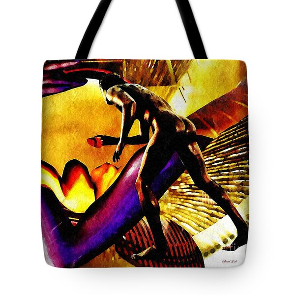 Feeding The Fire Within Tote Bag by Sarah Loft