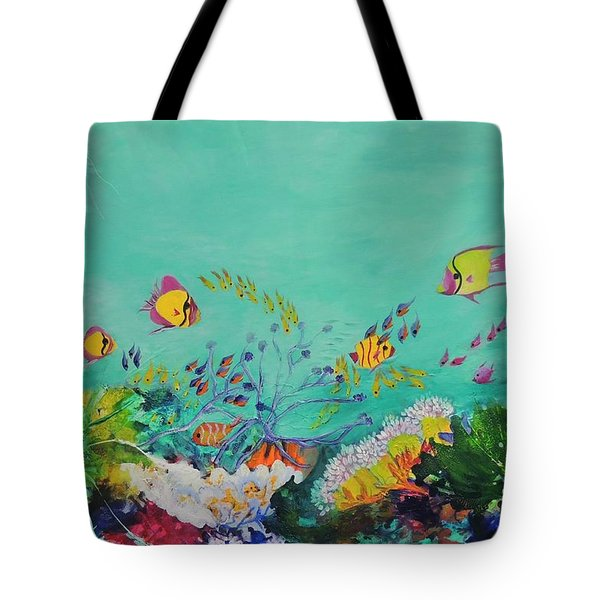 Tote Bag featuring the painting Feeding Time by Lyn Olsen