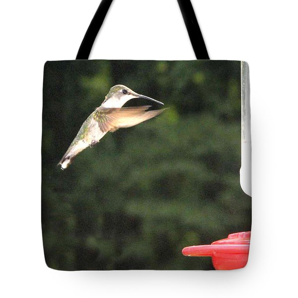 Feeding Time Tote Bag by Martha Ayotte