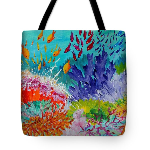 Feeding Time On The Reef #2 Tote Bag