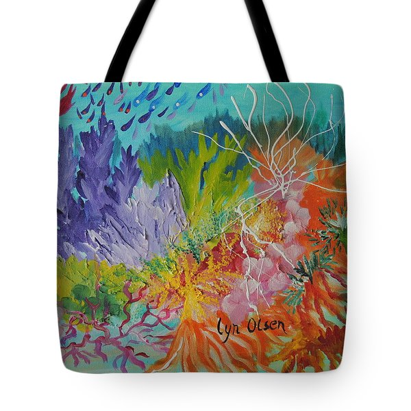 Feeding Time On The Reef #3 Tote Bag