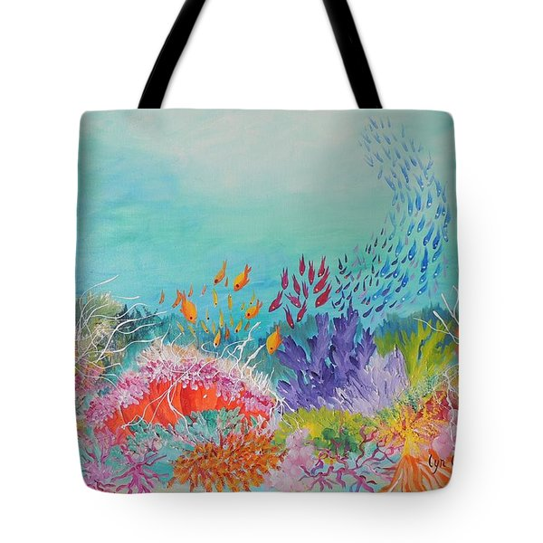 Feeding Time On The Reef Tote Bag