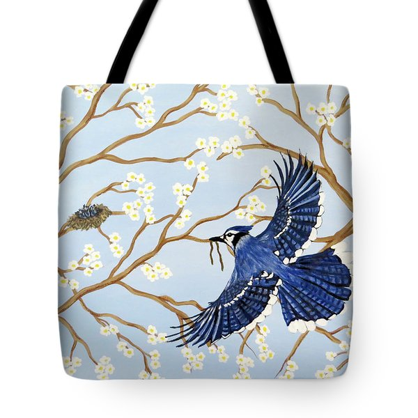 Tote Bag featuring the painting Feeding Time by Teresa Wing