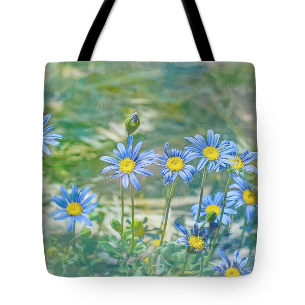 Tote Bag featuring the photograph Feeling Blue by Elaine Teague