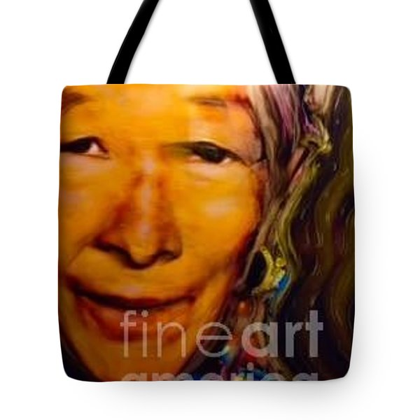 Feeling Light Within We Walk Tote Bag