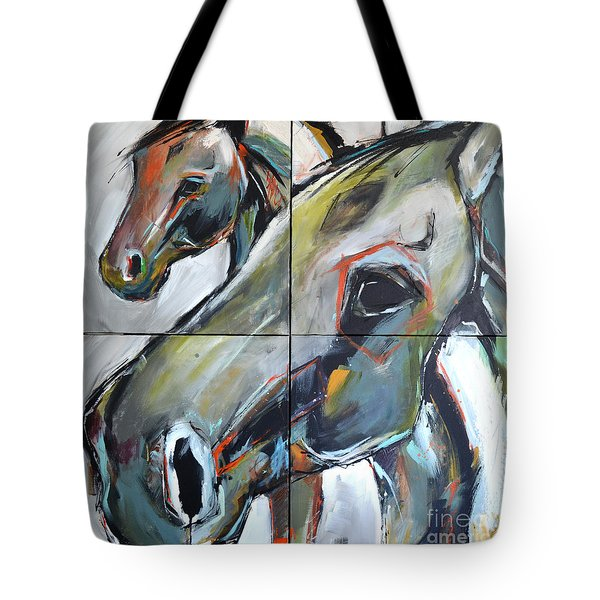 Tote Bag featuring the painting Feeling Thunder by Cher Devereaux