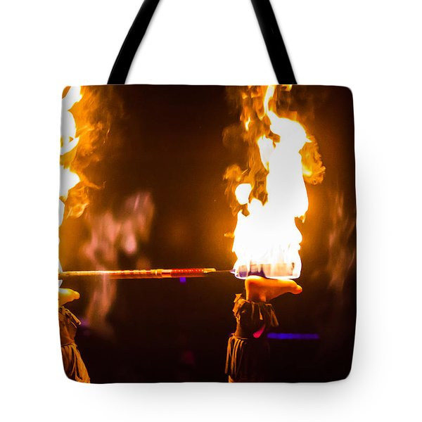 Feet And Fire Tote Bag