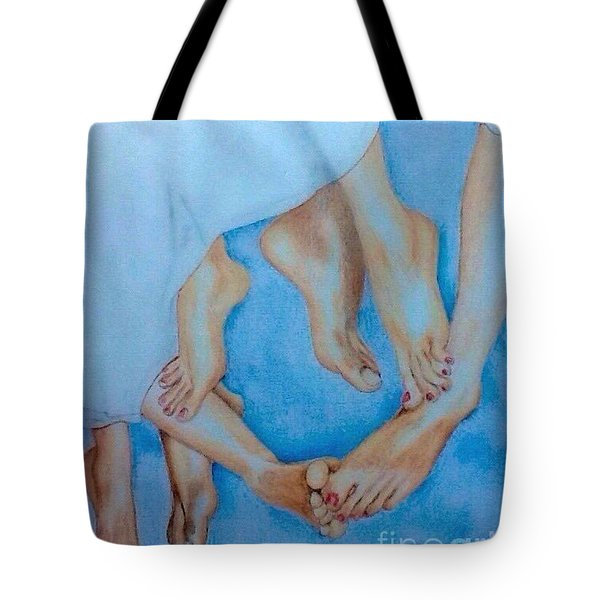 Naughty Feet Tote Bag