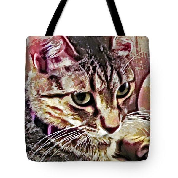 Feline Fancy Tote Bag by David G Paul
