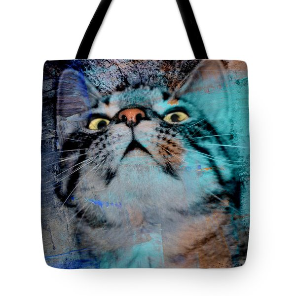 Feline Focus Tote Bag by Kathy M Krause