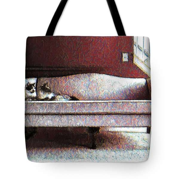Felines Be Like... Tote Bag by Iowan Stone-Flowers