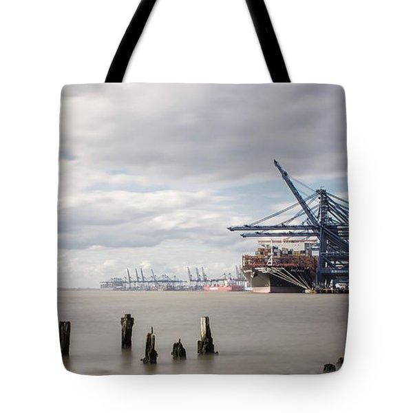 Felixstowe Docks Tote Bag
