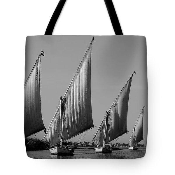 Feluccas On River Nile Tote Bag