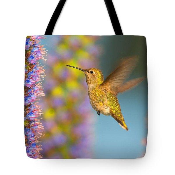 Female Anna's Hummingbird Huntington Beach California Tote Bag