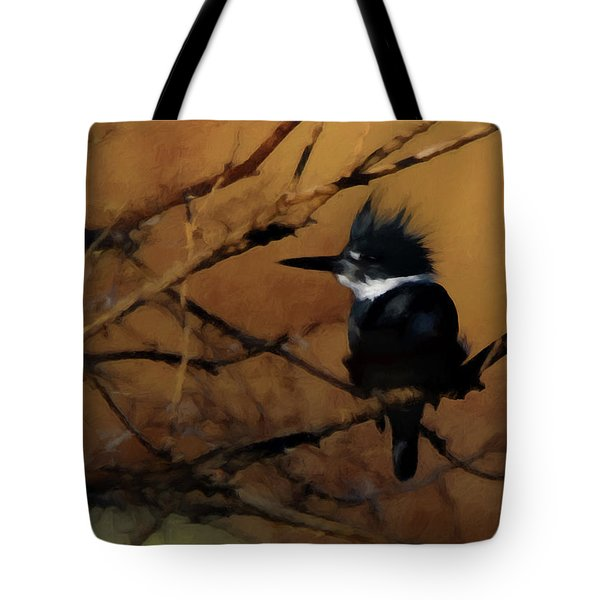 Tote Bag featuring the digital art Female Belted Kingfisher 2 by Ernie Echols