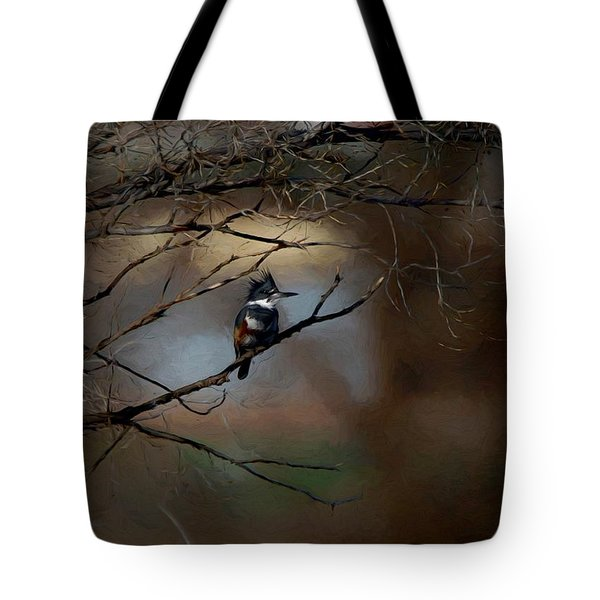 Female Belted Kingfisher 3 Tote Bag by Ernie Echols
