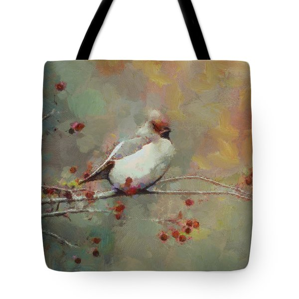 Tote Bag featuring the painting Female Cardinal - Feathered Friends Collection  by Elizabeth Coats