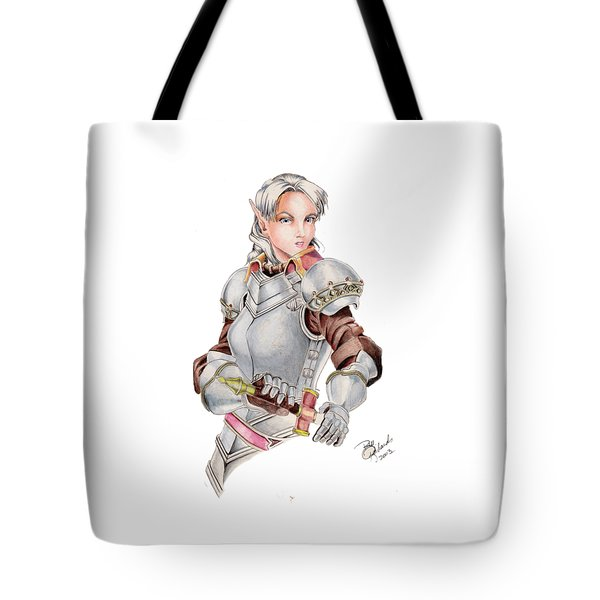 Female Elf Tote Bag by Bill Richards