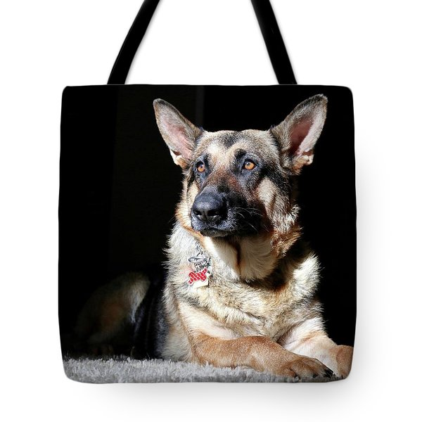 Female German Shepherd Tote Bag