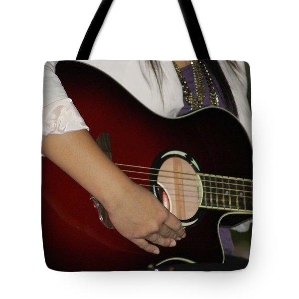 Female Guitarist Tote Bag