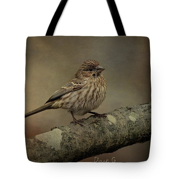 Female House Finch Tote Bag by Diane Giurco