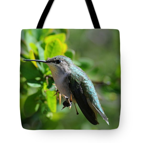 Tote Bag featuring the photograph Female Hummer #2 by Sandra Updyke
