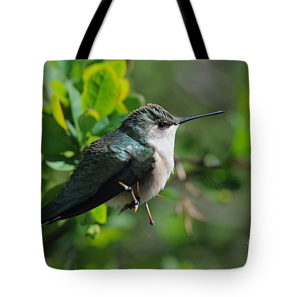 Tote Bag featuring the photograph Female Hummer by Sandra Updyke