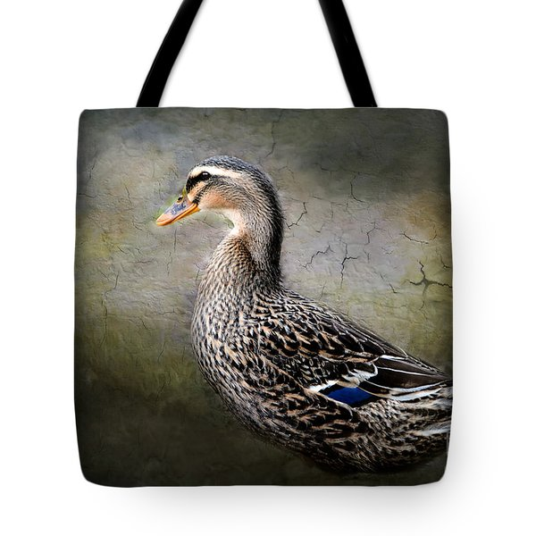 Tote Bag featuring the photograph Female Mallard by Brenda Bostic