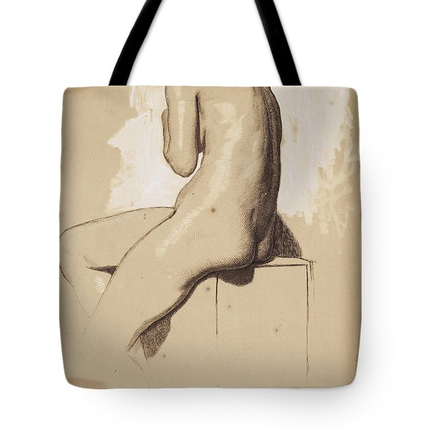 Female Nude - Study From Behind Tote Bag