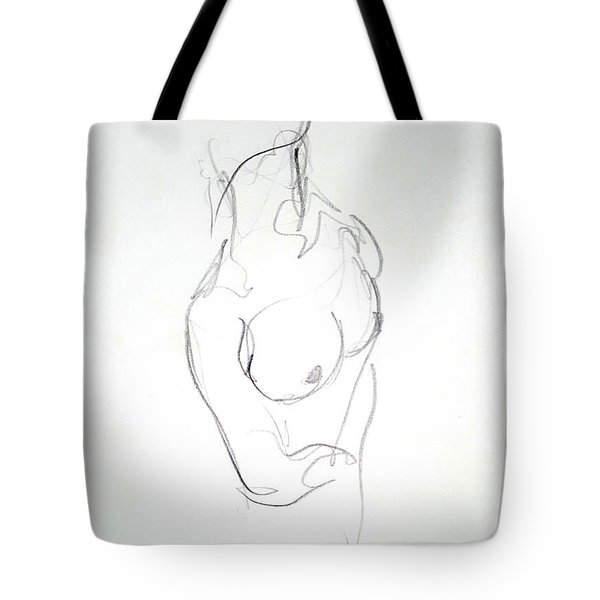 Female Nude Torso Tote Bag