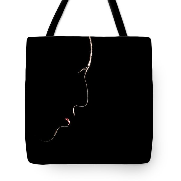 Female Outline Tote Bag