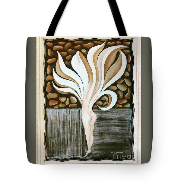 Tote Bag featuring the painting Female Petal by Fei A