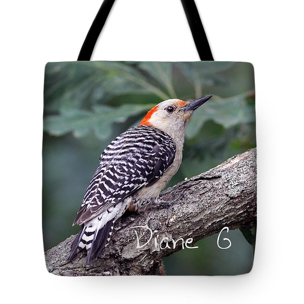 Female Red-bellied Woodpecker Tote Bag by Diane Giurco