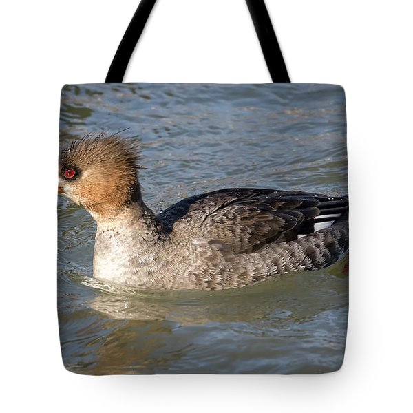 Tote Bag featuring the photograph Female Red-breasted Merganser by Ricky L Jones