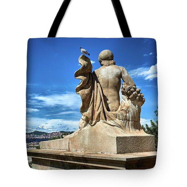 Tote Bag featuring the photograph Female Sculpture At Montjuic by Eduardo Jose Accorinti