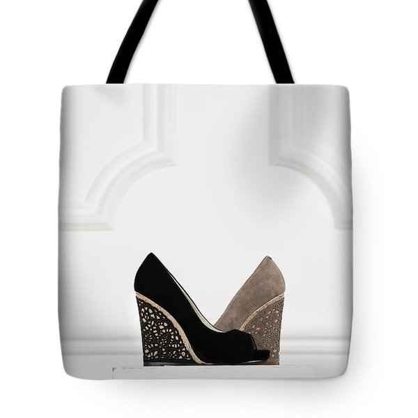 Tote Bag featuring the photograph Female Shoes by Andrey  Godyaykin