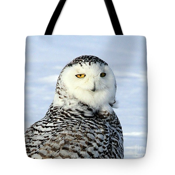 Female Snowy Owl Tote Bag