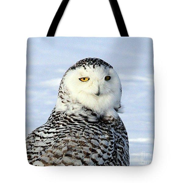 Female Snowy Owl Tote Bag