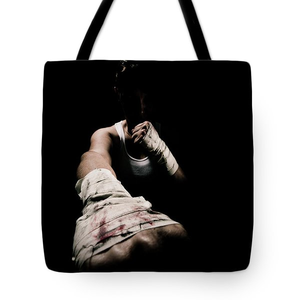 Female Toughness Tote Bag by Scott Sawyer
