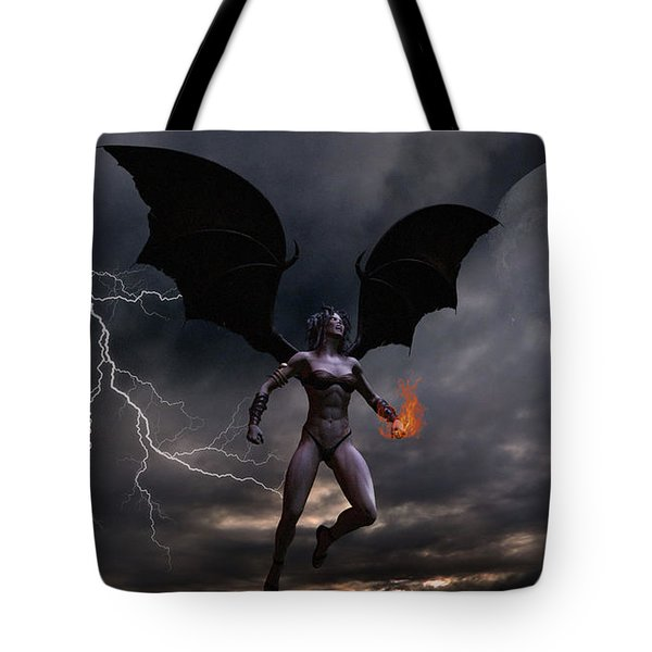 Female Vampire Tote Bag