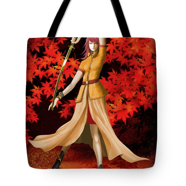 Female Warrior With Sword  Tote Bag